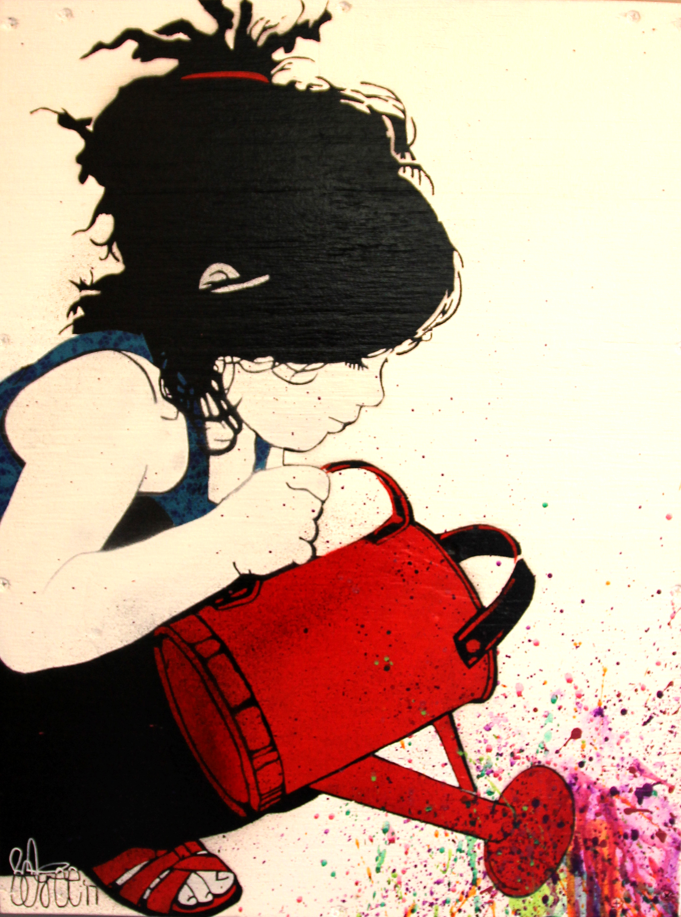 Watering Can Girl 1